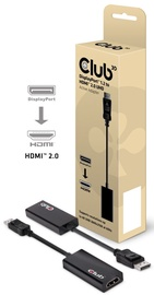Club 3D DisplayPort 1.2 to HDMI 2.0 UHD Active Adapter Black