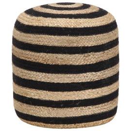 Пуф VLX Round Jute, черный/песочный, 40 см x 40 см x 45 см