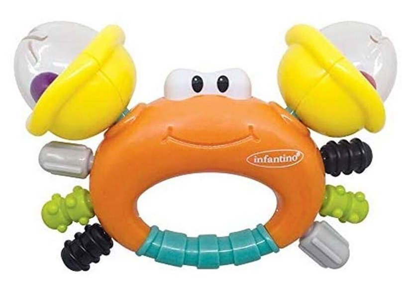 Infantino Rattle & Teether Sand Crab 304889