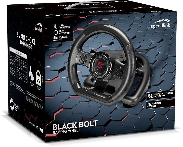 Speedlink Black Bolt Racing Wheel Black