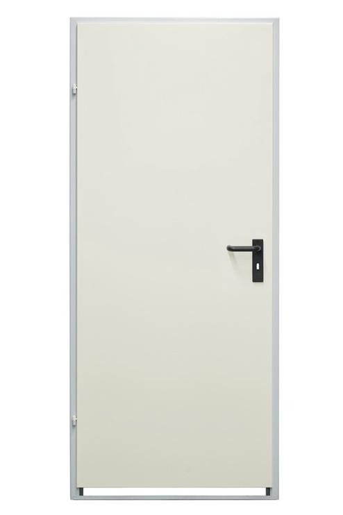 Plieninės vidaus durys Drumetall ZK40-1, baltos, kairinės, 970X2035 cm