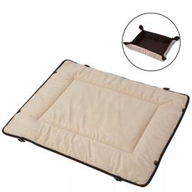 Кровать для животных VLX Dog Bed, коричневый/кремовый, 650x800 мм