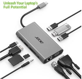 Адаптер Acer HP.DSCAB.010, USB 3.0 / HDMI / VGA / SD Card Reader / RJ-45 / 3.5 mm Audio