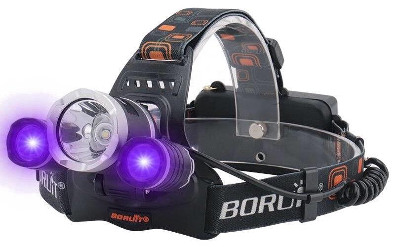 Фонарь на голову BORUiT RJ-3000, 6500 °К, IPX4