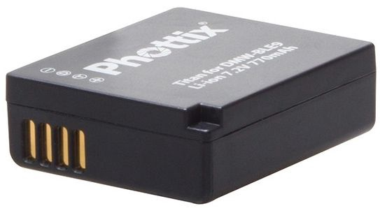 Phottix Li-on Rechargeable Battery DMW-BLE9 750mAh for Panasonic