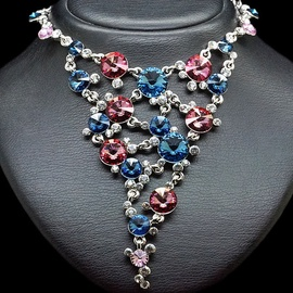 Diamond Sky Necklace Vortex IV With Swarovski Crystals