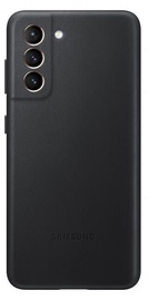 Samsung Leather Back Case For Samsung Galaxy S21 Black