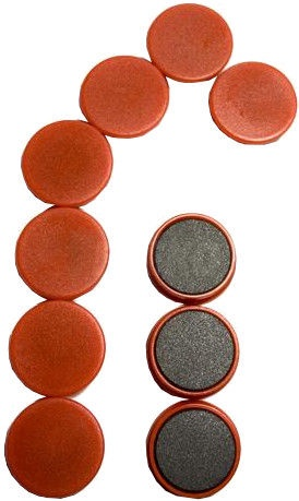 Esselte Magnets For Boards Red 10PCS/25mm