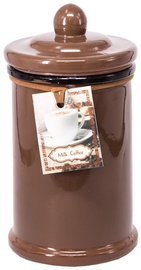Home4you Candle In Jar Pottery D7.5xH15.5cm Brown