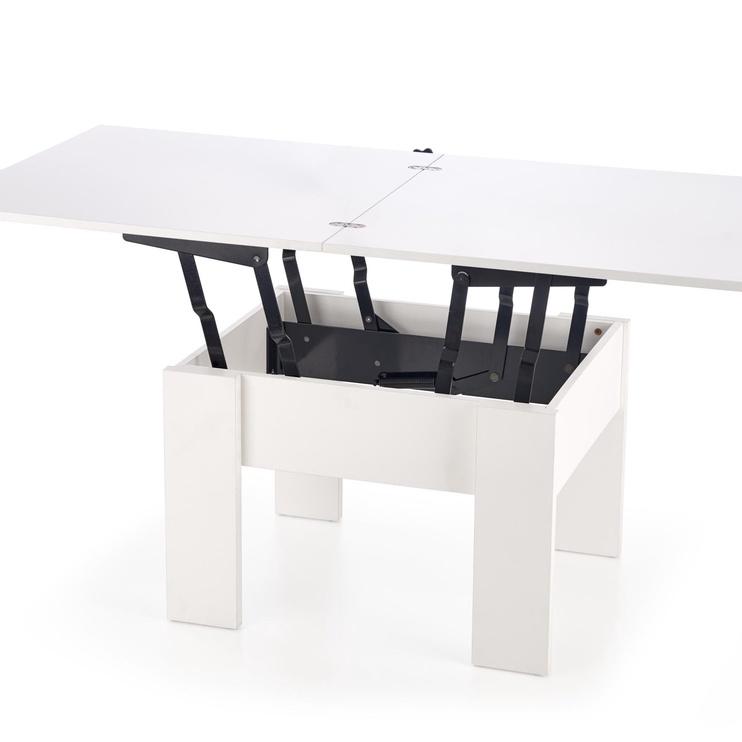 Kafijas galdiņš Halmar Serafin White, 800 - 1600x800x530 - 790 mm