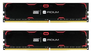 GoodRam IRIDIUM Black 8GB 2400MHz CL17 DDR4 DIMM KIT OF 2 IR-2400D464L17S/8GDC