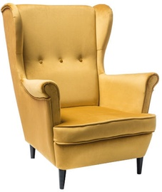 Signal Meble Lord Velvet Armchair Yellow