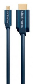 Clicktronic Cable HDMI To Micro HDMI 2m Blue
