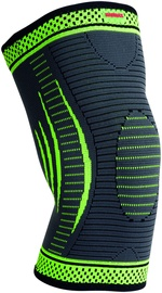 Mad Max 3D Compressive Knee Support Dark Grey/Neon Green S