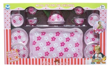 SN Metal Tea Set Pink