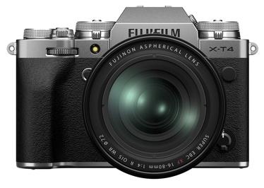Fujifilm X-T4 Mirrorless Camera Silver + FUJINON XF 16-80mm F4 R OIS WR