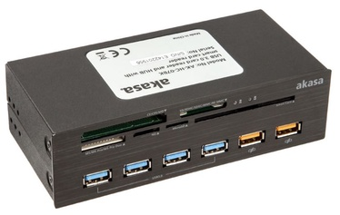 Akasa Card Reader 5-Port USB 3.0 Black