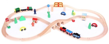 EcoToys Wooden Railway 49pcs HJD93664