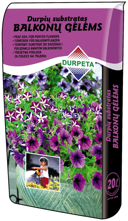 Durpeta Peat Substrate for Porch Flowers 20l