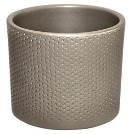 Горшок кер DOMOLETTI, WALEC KROPKI, д13, цвет серебр