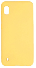 Evelatus Soft Touch Back Case With Strap For Samsung Galaxy A10 Yellow