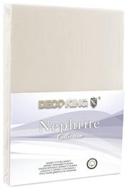 Простыня DecoKing Nephrite, кремовый, 120x200 см, на резинке