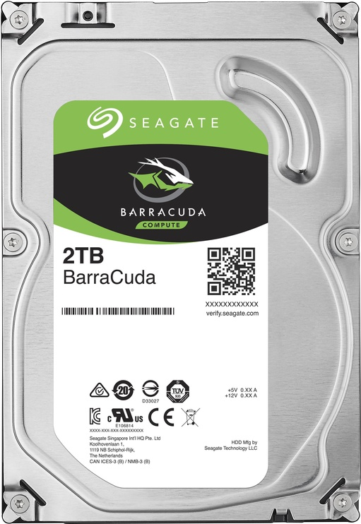 Seagate Barracuda 2TB 7200RPM SATAIII 256MB ST2000DM008