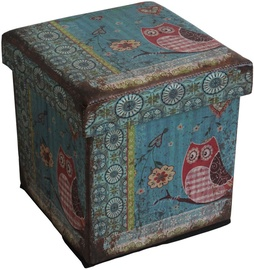 Home4you Pouf/Box with Lid Ventura 32x32xH32cm Owl