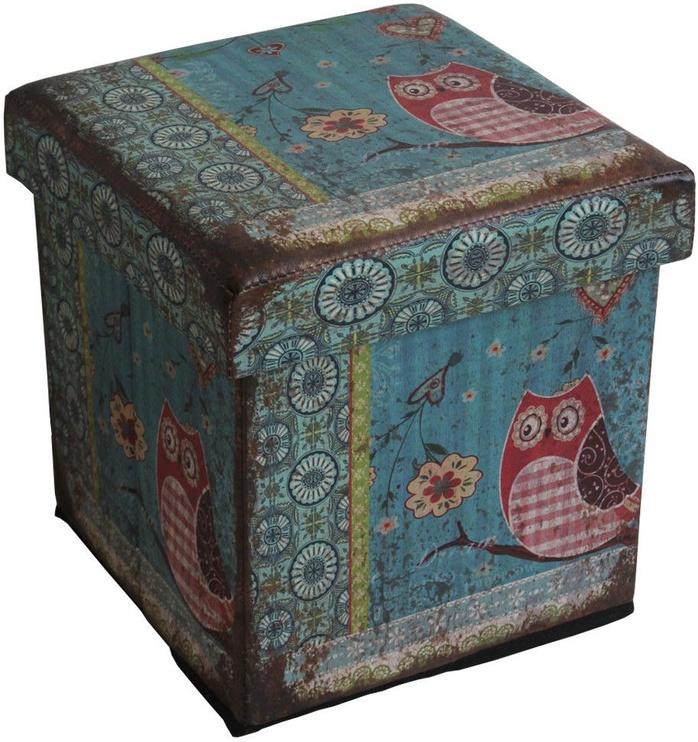Home4you Pouf/Box with Lid Ventura 32x32xH32cm Owl