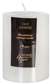 Home4you Candle Chic Jasmine D6.8xH9.5cm White