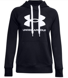 Under Armour Women's Rival Fleece Logo Hoodie 1356318 001 Black S