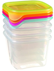 Curver Food Container Set 4PCS Square 0.45L Fresh&Go Mix