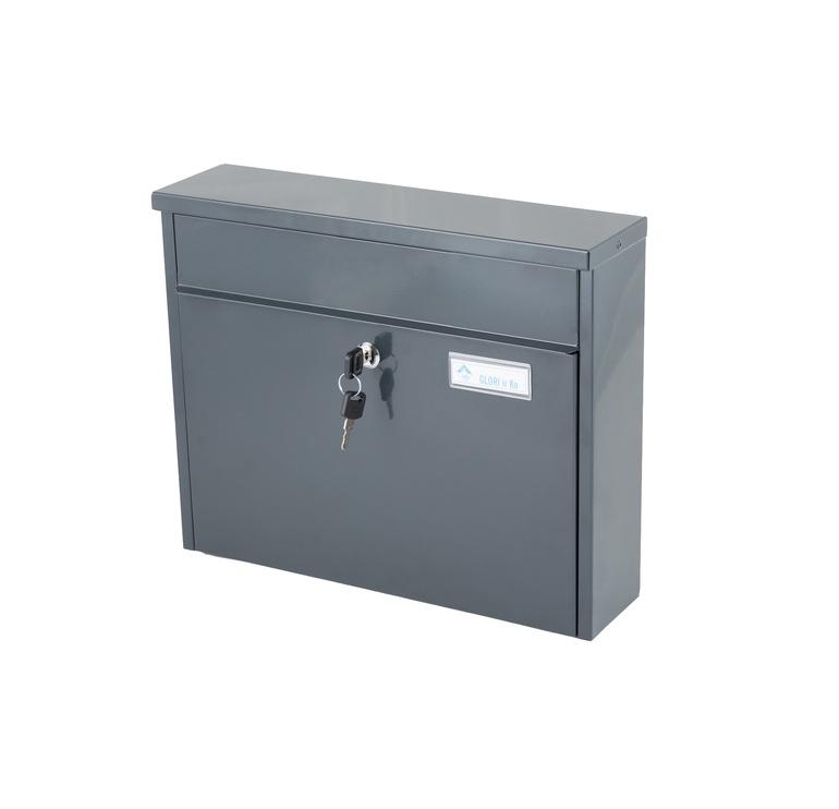 Pašto dėžutė Glori Ir Ko PD967 Antracite, 370x98x292 mm