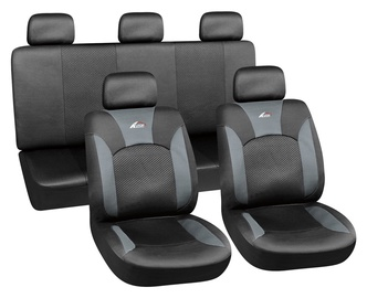 Autoserio Seat Cover Set AG-28682/4 8pcs Black