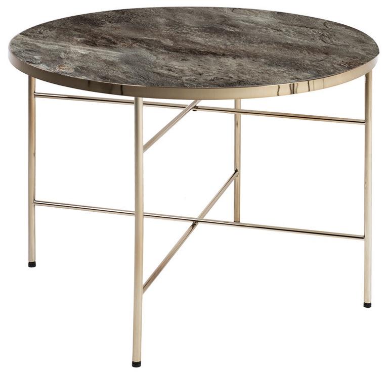 Kafijas galdiņš Home4you Astoria Grey, 600x600x450 mm