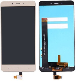 Mobilo tālruņu rezerves daļas Xiaomi Redmi Note4 Gold LCD Screen