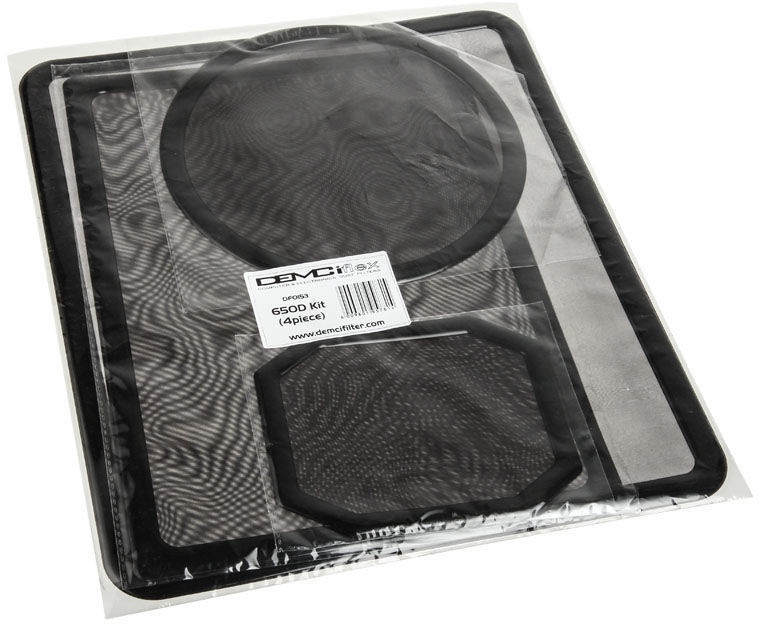 DEMCiflex Dust Filter Black DF0153 Set For Corsair 650D