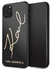 Karl Lagerfeld Signature Glitter Back Case For Apple iPhone 11 Pro Max Black
