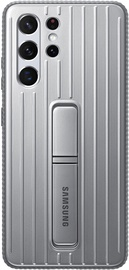 Samsung Protective Standing Back Case For Samsung Galaxy S21 Ultra Light Gray
