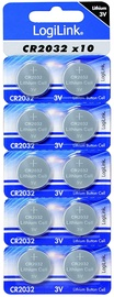 LogiLink Ultra Power CR2032 Lithium Button Cell 3V 10pcs
