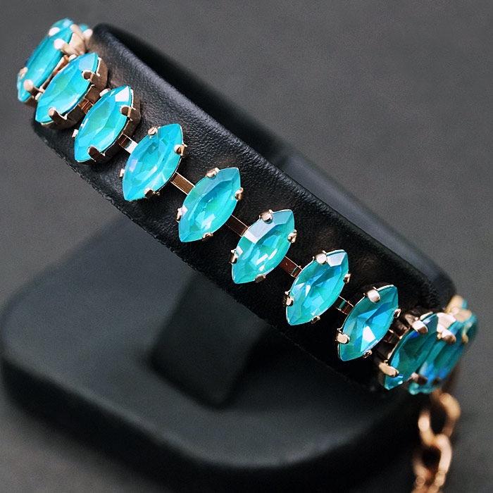 Diamond Sky Bracelet Ornella II Laguna DeLite With Crystals From Swarovski