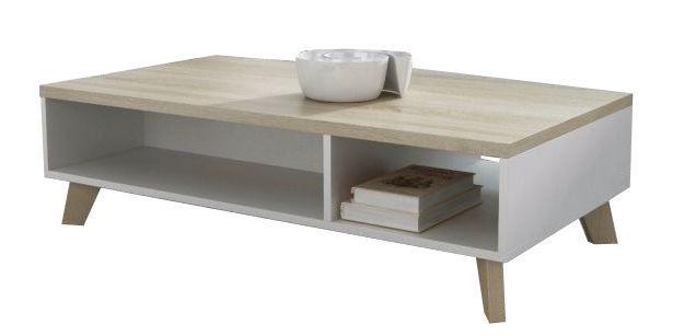 Kafijas galdiņš Cama Meble Lotta 110, balta/ozola, 1100x600x350 mm