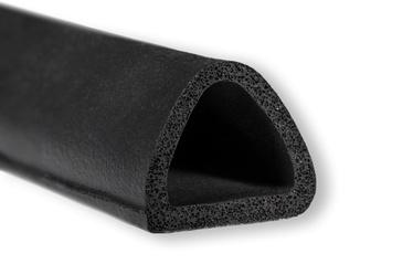 Blīvēšanas lente Trelleborg 6200/7460 Rubber Sealing Tape Black 21x17mm 50m