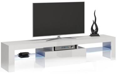 TV galds Top E Shop Deko 160, balta, 1600x400x450 mm