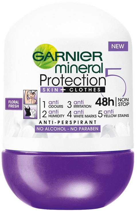 Garnier Protection 5 Floral Fresh Deo Roll On 50ml