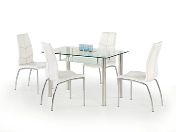 Обеденный стол Halmar Olivier, прозрачный/хромовый, 1190x690x750мм