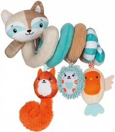 Игрушка для коляски Clementoni Soft Spiral Happy Animals, многоцветный