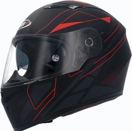 Shiro Helmet SH-600 Elite Matt Black Red M