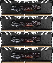 G.SKILL Flare X for AMD Black 64GB 2400MHz CL15 DDR4 KIT OF 4 F4-2400C15Q-64GFX