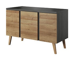 Idzczak Meble Laos 04 Chest Of Drawers 120 Black Pine/Riviera Oak